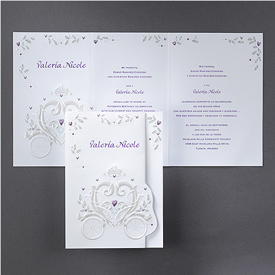 Cinderella Wedding Invitations. Most orders ship out in 2-3 business days